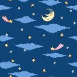 Seamless pattern made from night sky Stock Photos