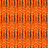 Seamless pattern made of orange shadowed overlay circles with ou Stock Photo