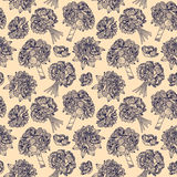Seamless pattern made of peony bouquets Royalty Free Stock Photos