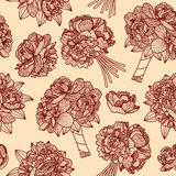 Seamless pattern made of peony bouquets Stock Images