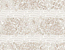 Seamless pattern made of pizza pieces Stock Photos