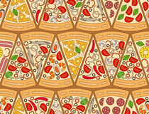 Seamless pattern made of pizza pieces. Vector illustration vector illustration