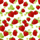 Seamless pattern made of red strawberries. Stock Photography