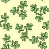 Seamless pattern. Made from rose leaves Royalty Free Stock Images