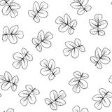 Seamless pattern made from rose leaves. Royalty Free Stock Images