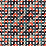 Seamless pattern made of round shapes in different shades of mut vector illustration