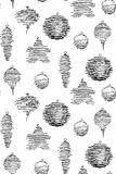 Seamless pattern made of sketched Christmas decorations. Seamless pattern made of pen sketched Christmas decorations vector illustration
