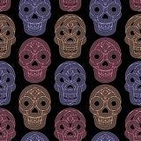 Seamless pattern made of skulls Royalty Free Stock Photo