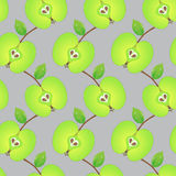 Seamless pattern made of sliced green apples Royalty Free Stock Photo