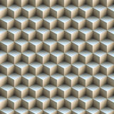 Seamless pattern made of stacked cubes. Stock Image