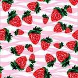 Seamless pattern  made of strawberries of different shapes and s Stock Image