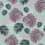 Seamless Pattern made from tropical Palm Leaves. Can be used as background or wallpaper Stock Image