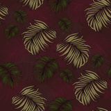 Seamless Pattern made from tropical Palm Leaves. Can be used as background or wallpaper Royalty Free Stock Image