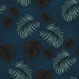 Seamless Pattern made from tropical Palm Leaves. Can be used as background or wallpaper Stock Photos