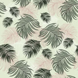 Seamless Pattern made from tropical Palm Leaves. Can be used as background or wallpaper Royalty Free Stock Photos