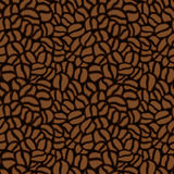 Seamless pattern made up of coffee beans in brown. Stock Photography