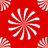 Seamless spirals on red. Seamless pattern made of white swirls or spirals on red background vector illustration