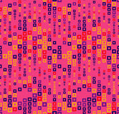 Seamless pattern on magenta background. Has the shape of a wave. Consists of through geometric elements. Stock Photos