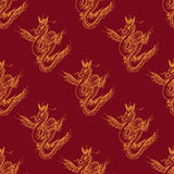 Seamless pattern with magic fly dragon Royalty Free Stock Photo