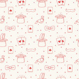 Seamless Pattern with Magic Icons Stock Images