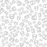 Seamless pattern with mail envelopes. Vector background for postal delivery. Stock Photography