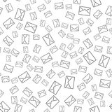Seamless pattern with mail envelopes. Vector background for postal delivery. Stock Photos