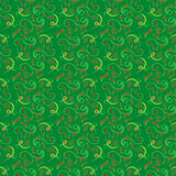 Seamless pattern mainly in green hues Royalty Free Stock Images