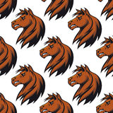 Seamless pattern with majestic. Stallion for equestrian design Stock Image