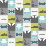 Seamless pattern male fashion Stock Photography