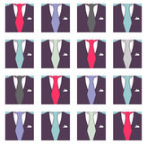 Seamless pattern male formal suit Stock Photos