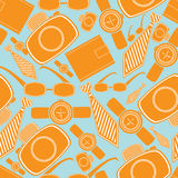 Seamless pattern with man fashion objects Stock Photos