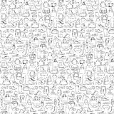 Seamless pattern of man and woman shoes and bags Royalty Free Stock Photos