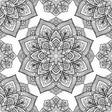Seamless pattern of mandala. Stock Photo