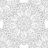 Seamless pattern with mandala. On a white background a simple pattern. Vector illustration Royalty Free Stock Image