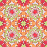 Seamless pattern with mandalas in beautiful colors for your design. Vector background Royalty Free Stock Photo