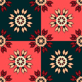 Seamless pattern with mandalas in beautiful vintage colors. Vector background Royalty Free Stock Images