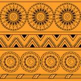 Seamless pattern with mandalas vector illustration