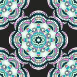 Seamless pattern with mandalas in modern nacre colors, trend of 2017 . Vector background Stock Photo