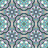 Seamless pattern with mandalas in modern nacre colors, trend of 2017 . Vector background.  Stock Photo