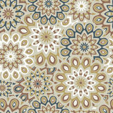 Seamless pattern with mandalas. Seamless pattern with round mandalas royalty free illustration