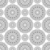 Seamless pattern of mandalas Royalty Free Stock Photos