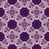 Seamless pattern with Mandalas.  Royalty Free Stock Photo