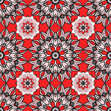 Seamless pattern with Mandalas. Vector ornaments in trendy colors for your design Stock Photography