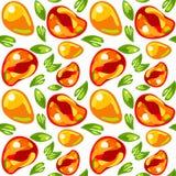 Seamless pattern from mango stock photography
