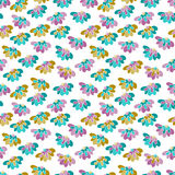 Seamless pattern with many flowers Stock Photography