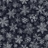 Seamless pattern of many layers of snowflakes. Christmas seamless pattern of many layers of snowflakes of different shapes, sizes and transparency. White on dark Royalty Free Stock Photo
