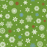 Seamless pattern with many snowflakes Royalty Free Stock Images