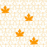 Seamless pattern from Maple Leafs Stock Image