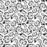 Seamless pattern with maple leaves. Royalty Free Stock Photos