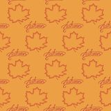 Seamless pattern of maple leaves Royalty Free Stock Image